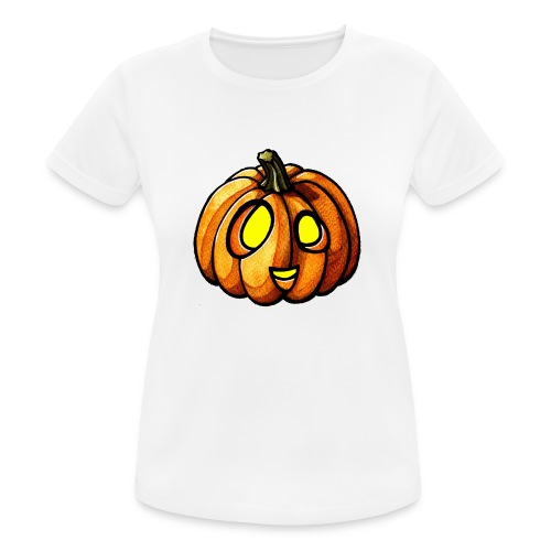 Pumpkin Halloween watercolor scribblesirii - Frauen T-Shirt atmungsaktiv