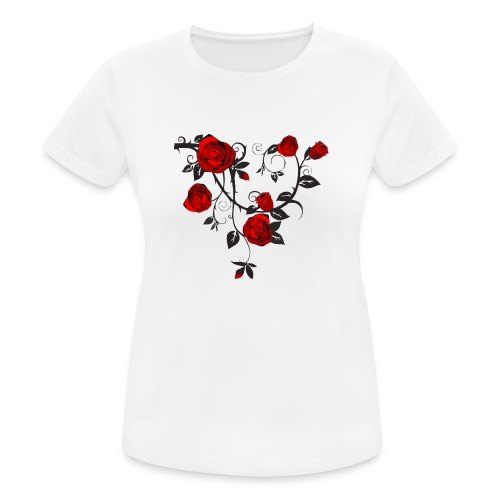 Rosenranken - Frauen T-Shirt atmungsaktiv