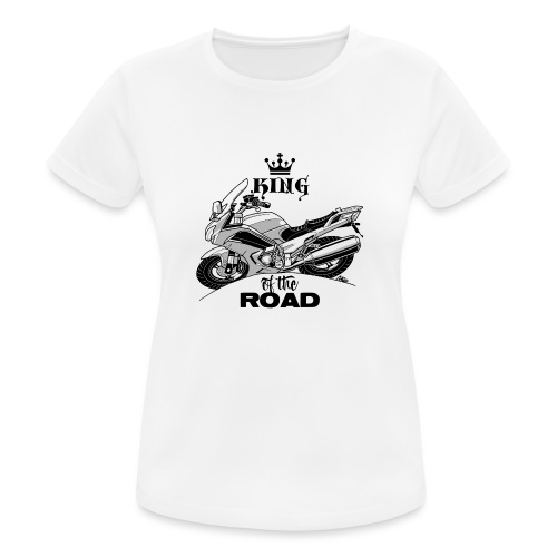 0884 FJR KING of the ROAD - vrouwen T-shirt ademend