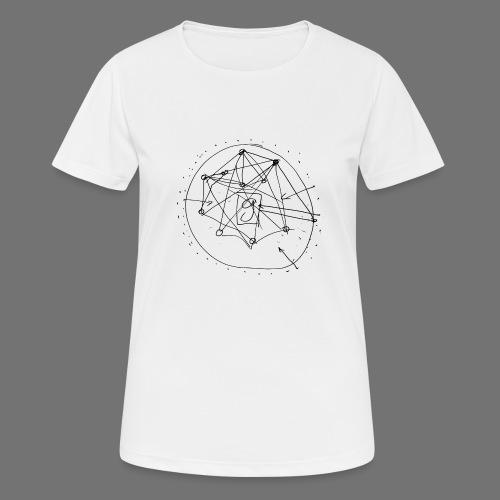 SEO strategia No.1 (musta) - naisten tekninen t-paita