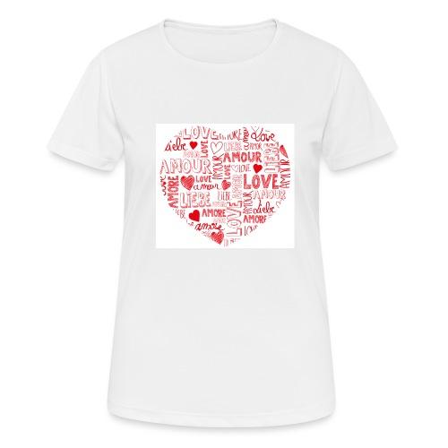 T-shirt texte amour - T-shirt respirant Femme