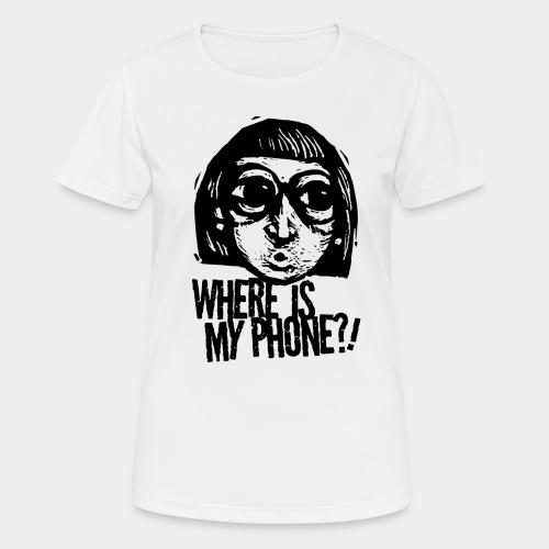 téléphone portable accro - T-shirt respirant Femme