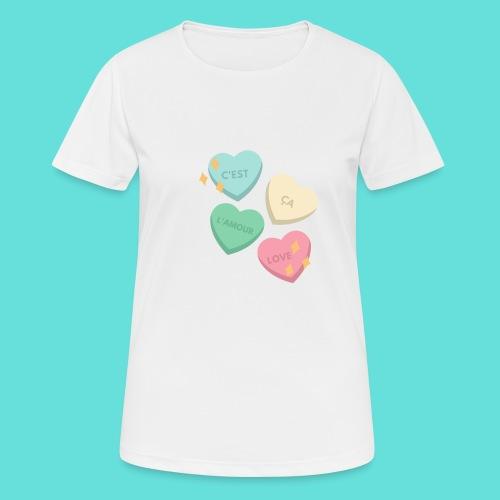C'est ça l'amour, love - T-shirt respirant Femme