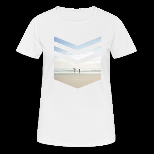 Surfing Beach - Frauen T-Shirt atmungsaktiv