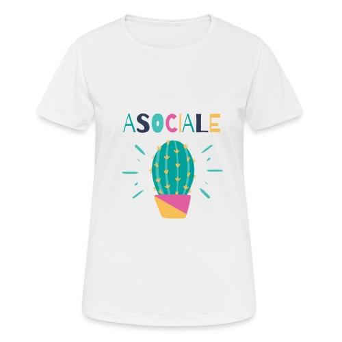 ASOCIALE - Maglietta da donna traspirante
