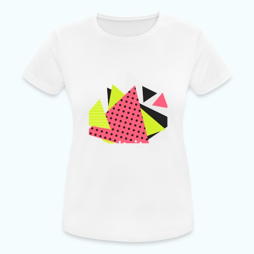 Neon geometry shapes - Women's Breathable T-Shirt