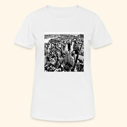 Manhattan in bianco e nero - Maglietta da donna traspirante