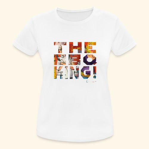 THE BBQ KING T SHIRTS TEKST - Vrouwen T-shirt ademend actief
