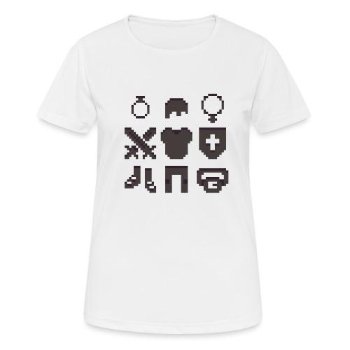 RPG Inventory Slots - Dame T-shirt svedtransporterende
