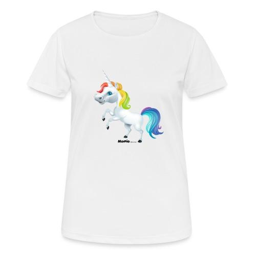 Regenboog eenhoorn - Vrouwen T-shirt ademend actief