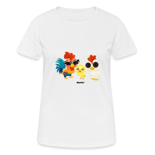 Huhn - von Momio Designer Emeraldo. - Frauen T-Shirt atmungsaktiv