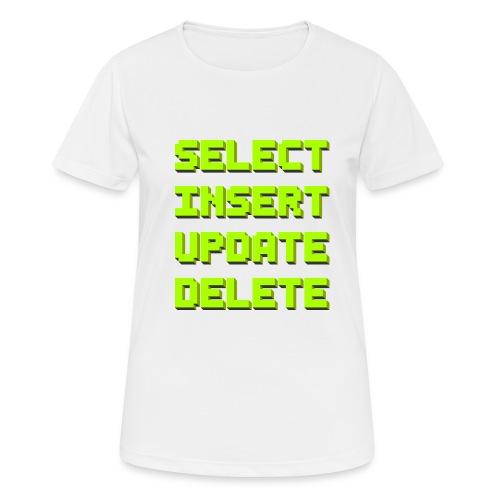 SQL pixelart black - Frauen T-Shirt atmungsaktiv