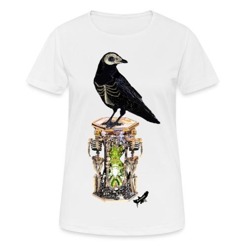 'Memento Mori' by BlackenedMoonArts - Dame T-shirt svedtransporterende