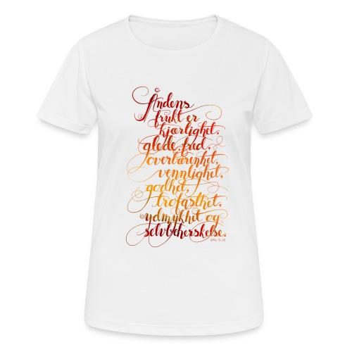 Åndens frukt - Pustende T-skjorte for kvinner