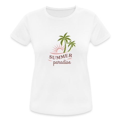 Summer paradise - Women's Breathable T-Shirt