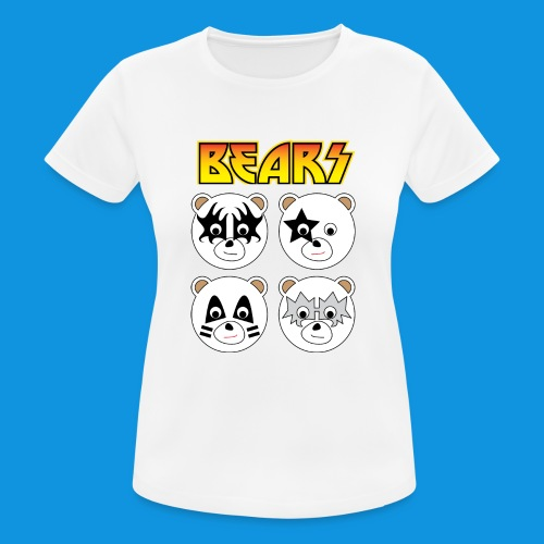 Kiss Bears square.png - Women's Breathable T-Shirt