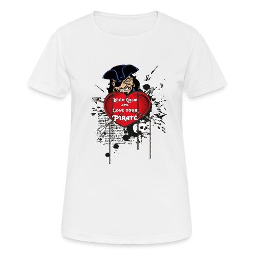 love your pirate - Maglietta da donna traspirante