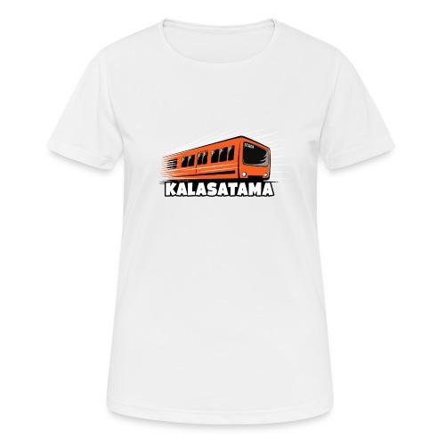 11- METRO KALASATAMA - HELSINKI - LAHJATUOTTEET - naisten tekninen t-paita