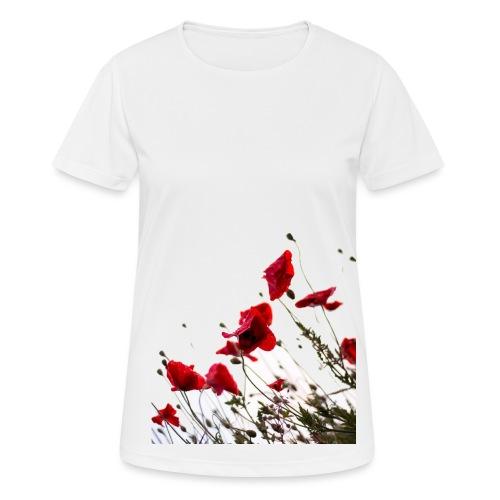 klaprozen - Vrouwen T-shirt ademend actief