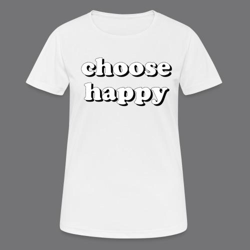CHOOSE HAPPY Tee Shirts - Women's Breathable T-Shirt