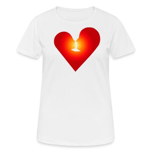 Ein Herz in Liebe - Frauen T-Shirt atmungsaktiv