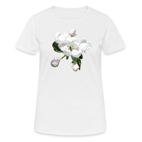Omenankukka ja kukkakärpänen - naisten tekninen t-paita