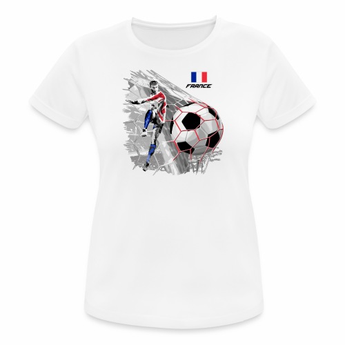 FP22F 03 FRANCE FOOTBALL - naisten tekninen t-paita