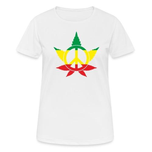 Peace färbig - Frauen T-Shirt atmungsaktiv