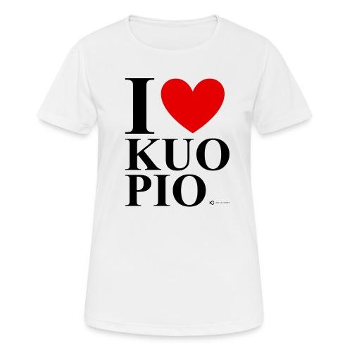 I LOVE KUOPIO ORIGINAL (musta) - naisten tekninen t-paita