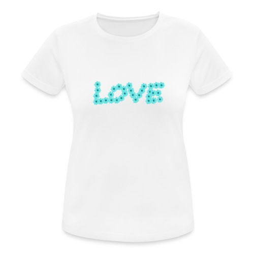 Love flowers - Andningsaktiv T-shirt dam