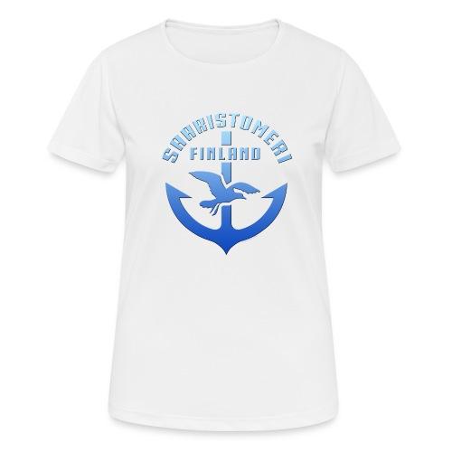 SAARISTOMERI FINLAND ANKKURI Tekstiilit ja lahjat - naisten tekninen t-paita