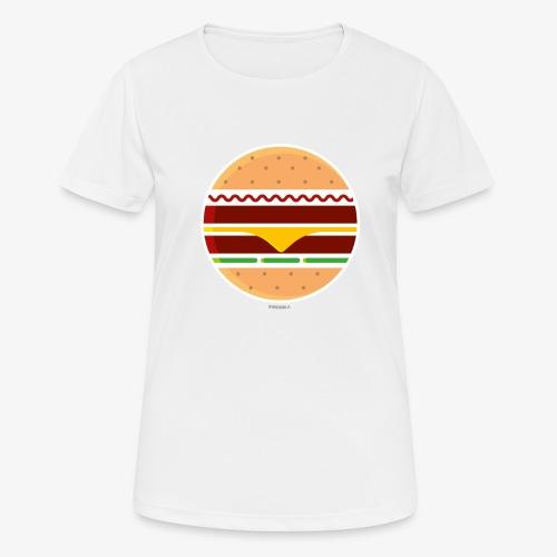 Circle Burger - Maglietta da donna traspirante