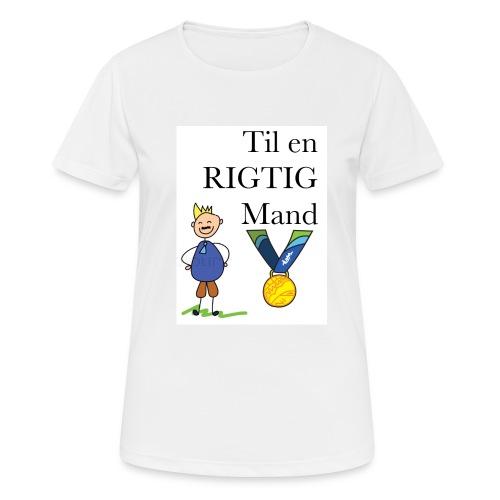 En rigtig mand - Dame T-shirt svedtransporterende