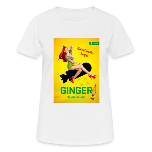 Ginger - naisten tekninen t-paita