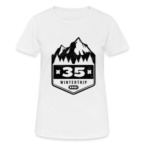 35 ✕ WINTERTRIP ✕ 2021 • BLACK - Vrouwen T-shirt ademend actief