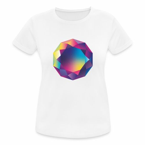 Diamond geometric illustration - Women's Breathable T-Shirt