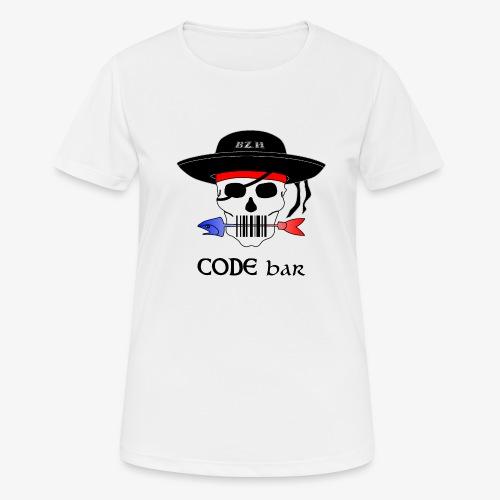 Code Bar couleur - T-shirt respirant Femme