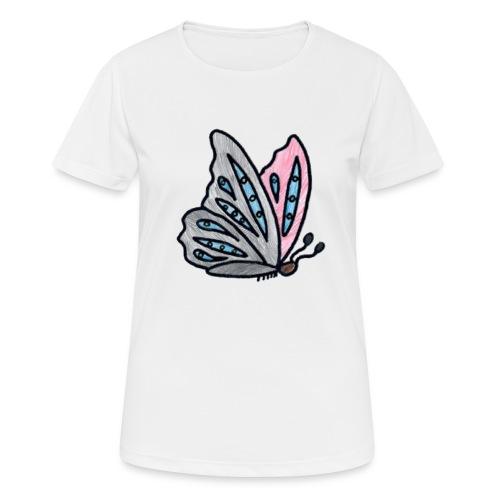 Fjäril - Andningsaktiv T-shirt dam
