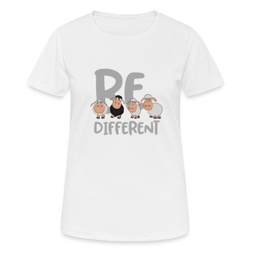 Be different Schafe: Einzigartiges schwarzes Schaf - Frauen T-Shirt atmungsaktiv