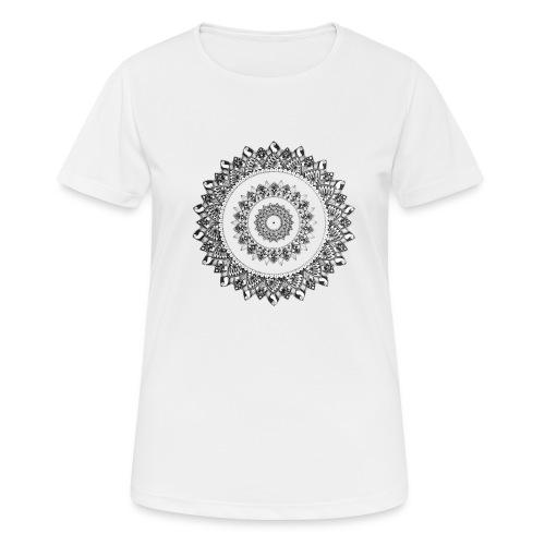 Mandala Black&White - Maglietta da donna traspirante