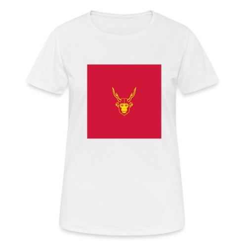 scimmiacervo sfondo rosso - Maglietta da donna traspirante