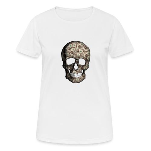 Skull Money Black - Camiseta mujer transpirable