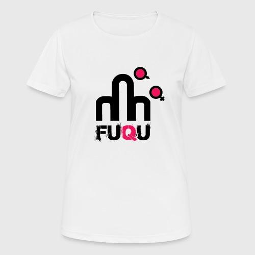 T-shirt FUQU logo colore nero - Maglietta da donna traspirante