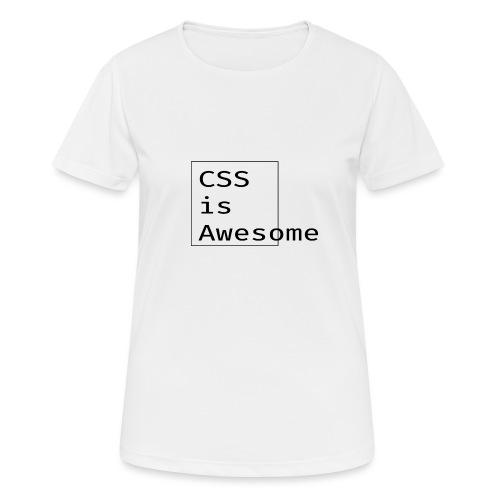 cssawesome - black - Vrouwen T-shirt ademend actief