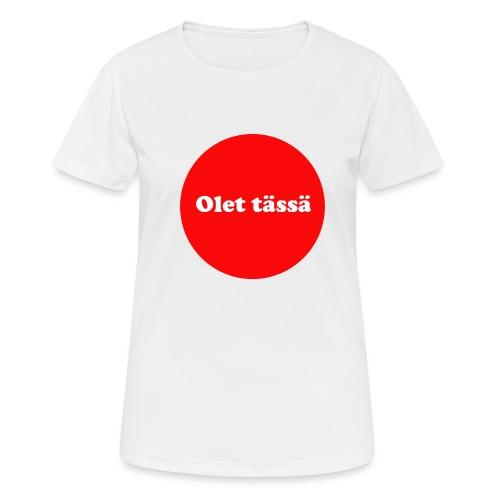 olet - naisten tekninen t-paita