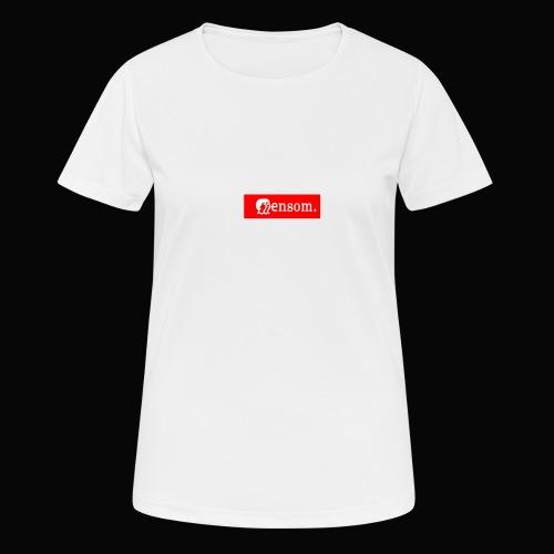 Ensom - Pustende T-skjorte for kvinner