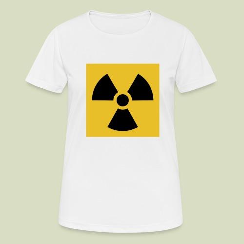 Radiation warning - naisten tekninen t-paita