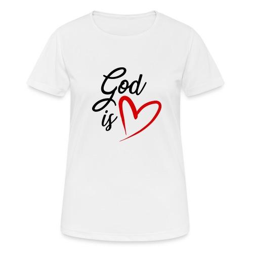 God is love 2N - Maglietta da donna traspirante