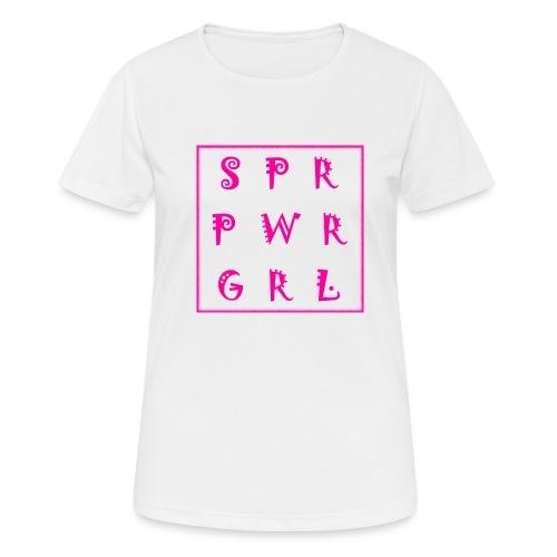 SUPER POWER GIRL - Frauen T-Shirt atmungsaktiv