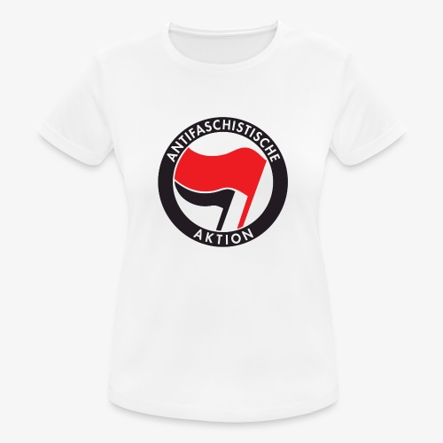 Atnifaschistische Action - Antifa Logo - Women's Breathable T-Shirt